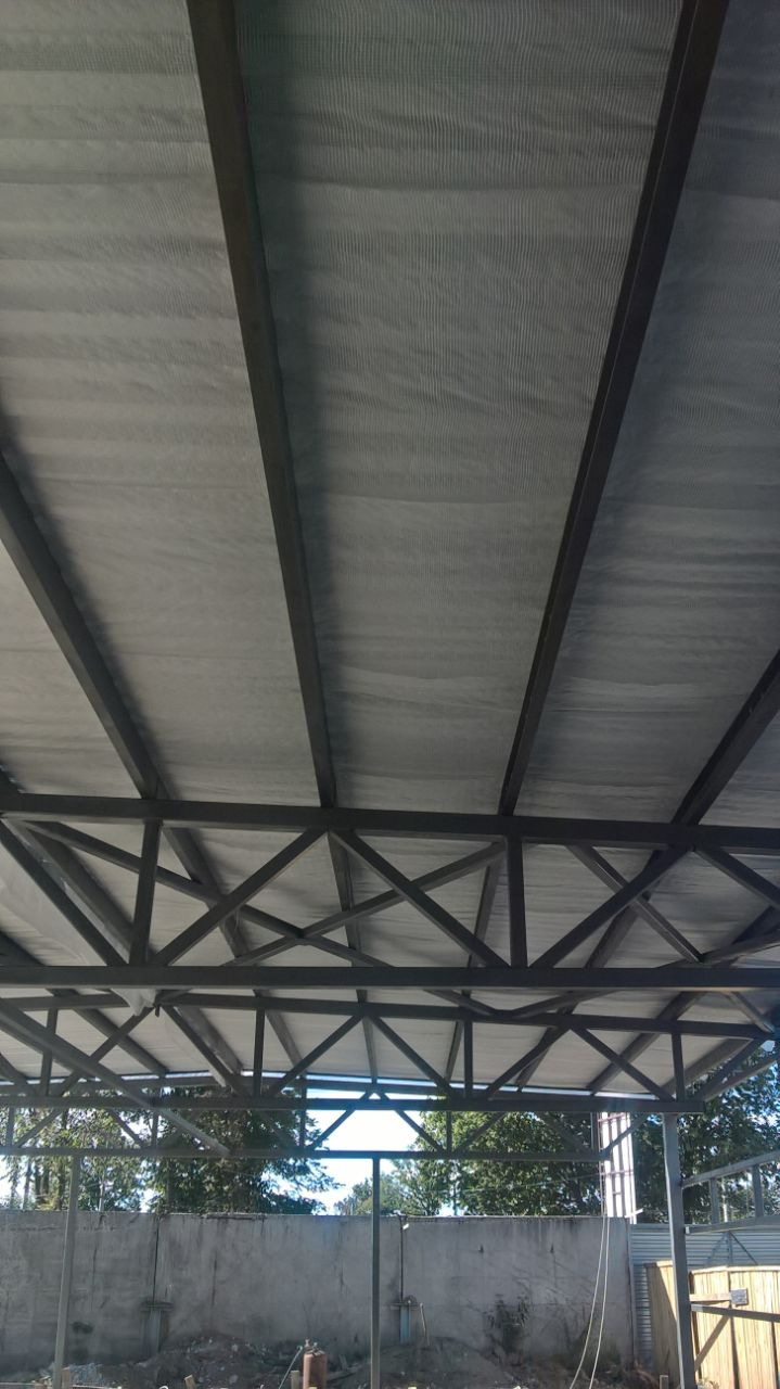 On The Photo Inter Floor Covering Of Future Salon With General Area 230 Sq M In Kiev Profiled Pipes And Channel Bars Were Used